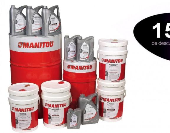 Campaña de otoño de aceites Manitou. Benefíciese de un 15% de descuento en todos los aceites de la marca Manitou.